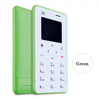 Wholesale Hottest Mini Card Phone X6 B W Screen English Keyboard Cell phone mm Ultra Thin Pocket Mobile Phone