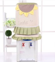 Wholesale Barrel cover Base sleeve Fresh garden drinking machine set water dispenser one set Dust cover cloth Embroidery cotton x27cm
