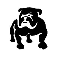 Wholesale 14 CM French Bulldog Tired Puppy Dog French Bulldog Funny Car Sticker Decal Reflective Black Silver CT