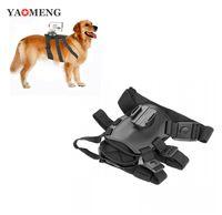 Cámara de acción de sony Baratos-Yaomeng perro deportivo tirando arneses pecho correa cinturón montaje para Sony HD accion cam HDR-AS200V AS100V AS30V AS20V AZ1 FDR-X1000VR DHL