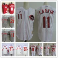 Veste rouge pour Avis-Hommes Cincinnati Reds Vest Vintage Jersey # 11 Barry Larkin 21 Deion Sanders White rayures gris 1990 Throwback Stitched sleeveless Jerseys