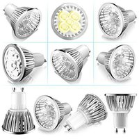 Wholesale Pack Watt Gu10 Super Bright LED Light Bulbs White Light k Not Dimmable