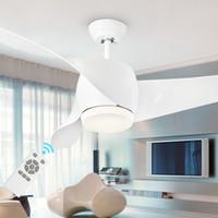 Wholesale LED Modern White v w power DC Ceiling Fans With Lights Remote Control Bedroom Home Fan Lamp ventilador de teto prestigio