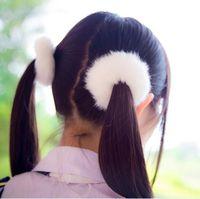 Wholesale Rabbit Fur Hair Band Bobble Elastic Cute Girls Plush Hair Rings Hairclips Headwear Hair Accessories