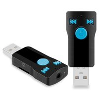 Wholesale Bluetooth Receiver Music Audio Adapter MINI USB Bluetooth mm Audio Cable for iPhone Speakers