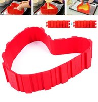 Wholesale DIY Silicone Cake Mold Baking Tools Lovely Red Color Silicone Cake molds Tool TOP1703ZZ
