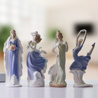 Wholesale TV Movie CharacterFemale ornaments ornaments crafts jewelry Jingdezhen ceramic wine Home Furnishing European style living room decoration