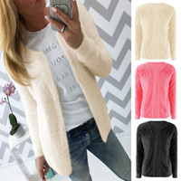 beige crochet - Fashion Women Girls Winter Spring Warmer Warm Long Sleeve Knitted Loose Cardigan Sweaters Outwear Coat ED00043