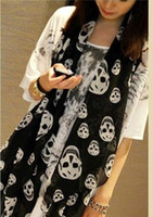 Wholesale 2016 High Quality Real Silk Skull Scarf Ladies Shawls Female Fishon Decorative scarf Three Colours