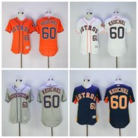 achat en gros de mode houston-Maillots de baseball Houston Astros Maillot Dallas Keuchel 60 Base Flexbase Cool Orange Gris Arc-en-ciel Broderie de mode et Logo de couture