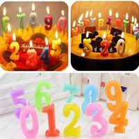 Precio de Velas de cumpleaños barcos-La vela árabe afortunada del número embroma las mini velas del regalo Regalo exótico del día de la tarjeta del día de San Valentín de la fuente de la atmósfera del festival de la boda del cumpleaños Envío libre