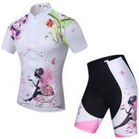 aerobics wear - Women s Aerobics Cycling Short Sleeved Summer Female Suits Outdoor Sports Wear Breathable Clothing Flower Fairy Yoga Fitness Motorcycle Suit