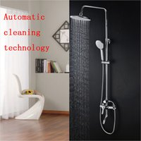 automatic shower cleaner - HS Bathroom Shower Sets Wall Mounted Shower System Made of Brass Five Function Handheld Automatic Cleaning Technology Rain Shower Brand New