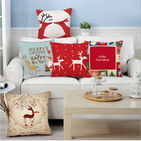 Wholesale 18 Inch Christmas Design Cushion Covers Sofa Pillow Throw Pillow Case Home Decor JF003
