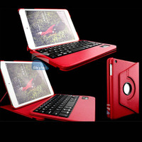 Wholesale For iPad Bluetooth Keyboard Wireless Key board For iPad Air iPad Mini Degree Rotation Leather Case Pieces With Retail Package