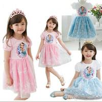 Cheap frozen lace kids dresses Best elsa tutu dresses