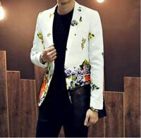 Wholesale new arrivals jackets and blazer men suit fashion slim flower suit mens blazers men s outwear S XL