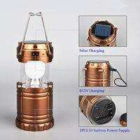 Wholesale Hot sale Solar LED camping rechargeable outdoor portable lights can be charged mechanical and electrical