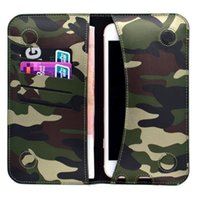 army universal camo - Universal inch Army Camo Camouflage Leather Wallet Flip Magnet Cover with Card Slot Holder for Iphone Samsung S6 S7 Huawei P8 P9