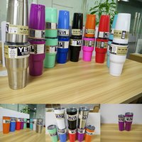 Wholesale Christmas Gift Cups - 10 Colors 304 Stainless Steel 30oz and 20oz Yeti Cups Coolers Rambler Tumbler Cup Travel Drinkware for Christmas Gift