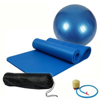 beginner ball exercises - mm Non slip Yoga Pilates Mat Pad Sit up Durable Exercise Mat cm Yoga Fitness Ball Free Pump Air Free Carry Bag