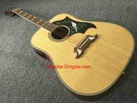 2017 nueva guitarra acústica de madera natural de la paloma de la guitarra de la marca de fábrica en la acción Guitarras de China