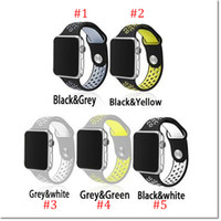 apples rubber watch - New design Rubber Silicon Sports Bands for Apple Watch Series Band mm mm Wrist band Strap Replacement for Apple Watch