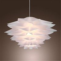 110V-240V artistic lamp shades - 60W Floral Pendant Light Lamp in Petal Featured Shade E27 Led Light for Bedroom Dining Room Game Room in Modern Contemporary Artistic style
