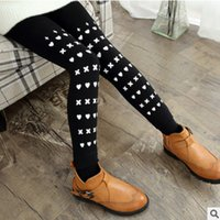 Wholesale New Children s Autumn and Winter Leggings Cartoon ColorS Warm Pants Plus Velvet Thickening Trousers Girls Size4 ly152