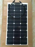 оптовых р.в. комплекты солнечных панелей-55W / 12V комплект PV поделки панели солнечных батарей / гибкий солнечный модуль солнечных батарей Открытый Спорт Путешествия Морские яхты RV Motor Home 12V Использование батареи