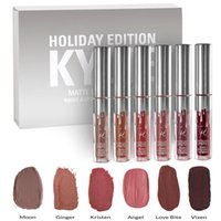 Wholesale 2017 Holiday set kylie jenner mini matte liquid lipstick set edition lip kit with gloss shades colors kit DHL free