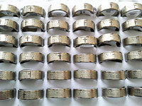 Wholesale Brand New English the Serenity Prayer Silver Stainless Steel Men s Jewelry Etching Rings Mixed