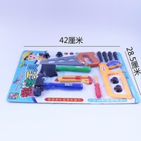Wholesale Children s Woodworking Tools Toy Sets Collection Cross Cut Saw Hammer Ax Cutter Screwdriver Bow Saw Puzzle