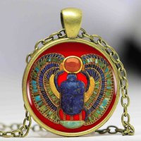 Pendant Necklaces ancient egypt fashion - 2016 Fashion Egyptian Scarab Necklace ancient egypt jewelry Egypt necklace Egyptian jewelry For Women colors for choosing