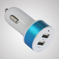 Wholesale App metal car charger double USB aluminum alloy car charger A double U car charger