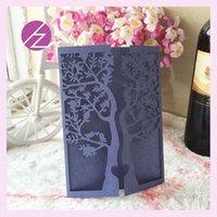 Wholesale Birthday party decorations elegant tree wedding laser cut invitation card wedding decoration hot sale custom printing