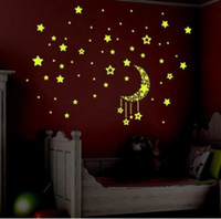Wholesale Little Star fluorescent luminous Wall Sticker Living Room Home Decoration Decal DIY Mural Wall Art Your Best Choice