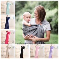 Wholesale 8 colors Fashion Baby Carrier Soft Infant Wrap Breathable Infant Sling Hipseat Breastfeed Birth Comfortable Nursing Cover M562 B