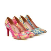 aa importing - Imported Colorful Personalized Graffiti Heels and Shoes Small Size Shoes Code