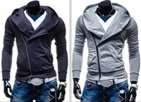 amazon coats - Amazon sets foreign trade hot style of men s pure color fleece hooded long sleeved street fashion cotton coat Sports leisure clothing coat
