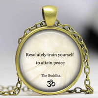 accessory quotes - Buddhist Inspirational Quote Necklace Motivational Wisdom Pendant Yoga Jewelry Buddha Necklace OM jewelry accessories for women
