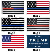 Wholesale U S American USA Flag trump Election flag x5 Foot Red White Black Blue Line Police Flag Honoring Law Enforcement Officers