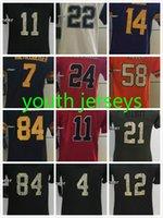 Wholesale Youth Jerseys Emmitt Smith Stefon Diggs Ben Roethlisberger Devonta Freeman Von Miller Stitched Football Kids Cheap Jerseys