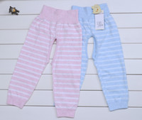Wholesale pieces Spring and Summer Child Cotton Stretch Cotton Pants With Smile Face Two color no12