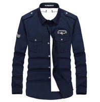 army dress uniforms - Long Sleeve Leisure High Quality Breathable Business Autumn Army Military Dress Shirt Plus Size Uniform Dress Shirts Color M XL XL