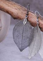 Wholesale Top sales Stylish retro earrings European style special leaf shape