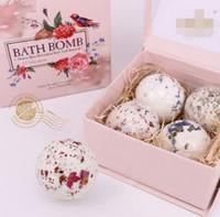 Wholesale bath bomb G Natural sea salt oil bath ball suits Lavender flower ball bubble bath salt Embellish skin care Clean the skin