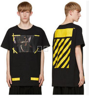 cotton arrow m - 2017 OFF WHITE EXO GD with the paragraph men and women T shirt Religious arrow oil painting Fashion hip hop Couple sports Short sleeves tee