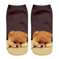 ankle boo - 3D cartoon sock pug boo bulldog female short funny print cut dog socks for women casual socks