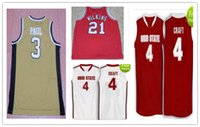 al por mayor tiendas de artesanía-Outlet 3 barato Chris Paul 21 DOMINIQUE WILKINS 4 Aaron Craft Marca de fábrica del jersey Cosa Costosa cualquier número y nombre XXS-6XL